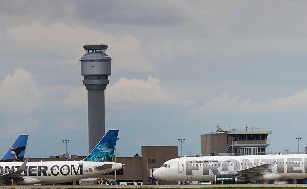 Frontier Airlines says that there are places to pump breast milk at all the airports where it flies.