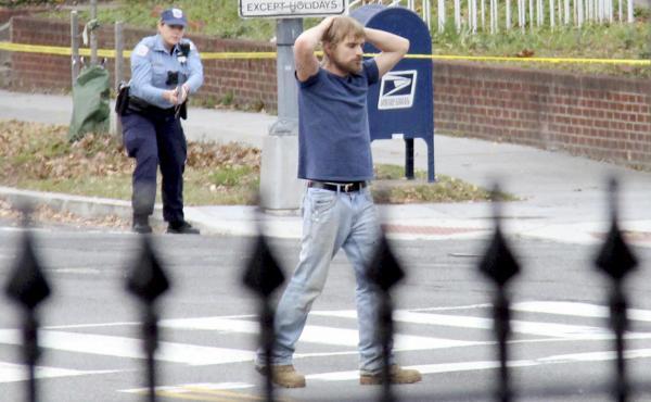 Edgar Maddison Welch of Salisbury, N.C., surrenders to police in December in Washington, D.C.
