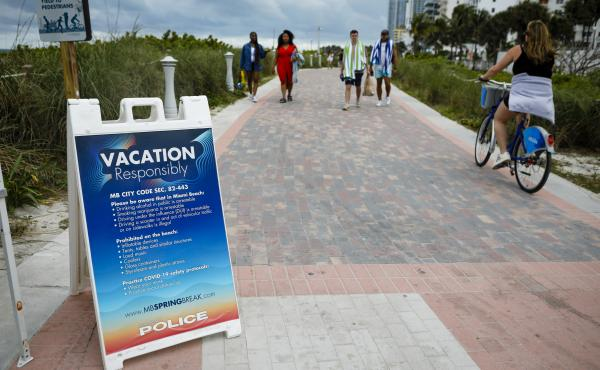 Even with some colleges canceling their midsemester breaks due to COVID-19, students from more than 200 schools are expected to visit Miami Beach during spring break, which runs until mid-April.