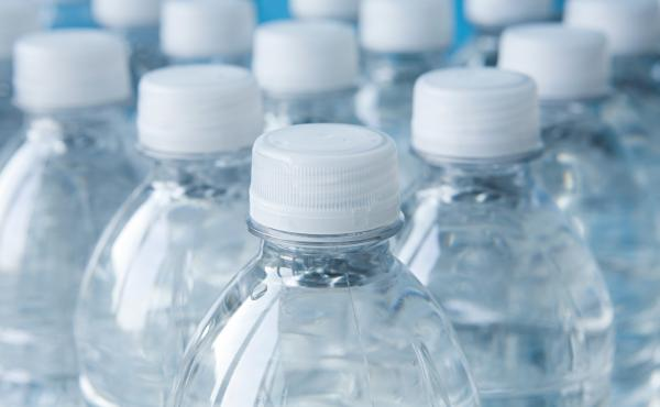 Bottles of mineral water. A recent government report has found that, in rats, BPA is not shown to be dangerous to health.