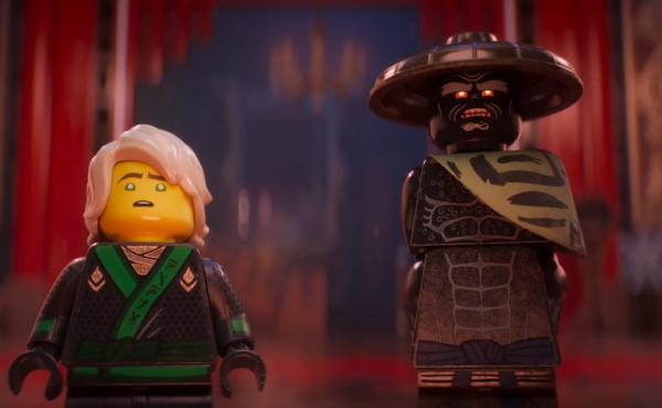 If It's Not Brick, Don't Fix It: Lloyd, voiced by Dave Franco, and his father Garmadon, voiced by Justin Theroux, in The LEGO Ninjago Movie.