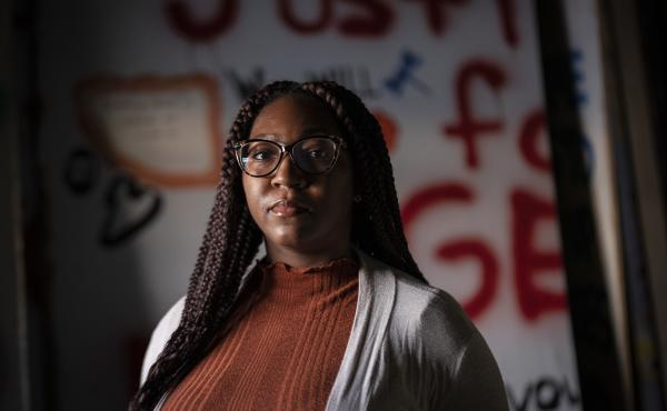 Leesa Kelly of Minneapolis, Minn., has been collecting plywood protest murals with the organization, Save the Boards, since the civil unrest following killing of George Floyd.