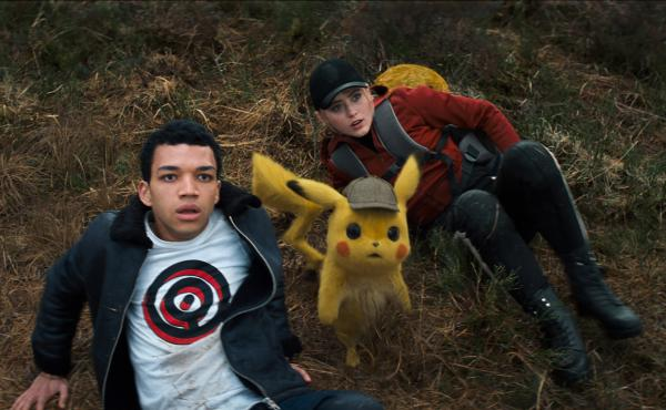 Tim (Justice Smith), a talking Pikachu (Ryan Reynolds), and a hard-nosed intern journalist (Kathryn Newton) team up to find Tim's missing father in Pokémon Detective Pikachu.