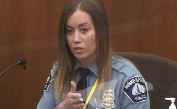 Minneapolis police officer Nicole Mackenzie testifies Tuesday in the trial of former officer Derek Chauvin.
