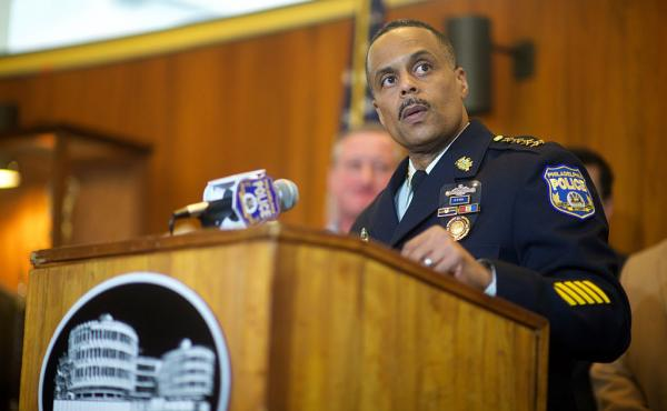Philadelphia Police Commissioner Richard Ross addresses media at a press conference in January.