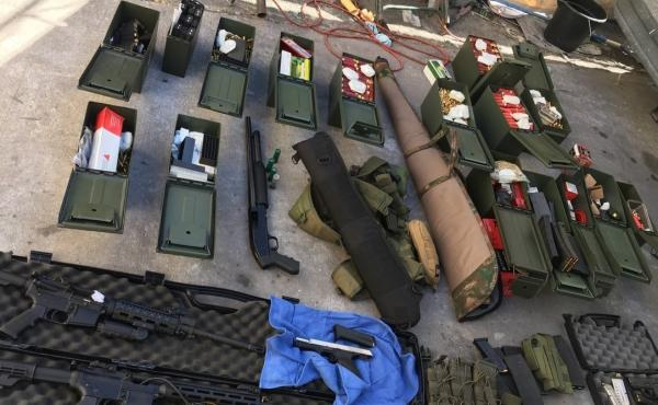 Authorities in Southern California seized a stockpile of high-powered firearms, ammunition and tactical gear from the property of Rodolfo Montoya, who authorities say had been planning a mass shooting because of a dispute involving his work's human resour