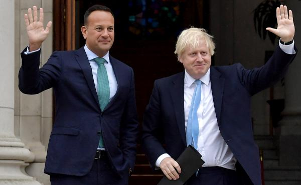 British Prime Minister Boris Johnson Meets Leo Varadkar In Ireland