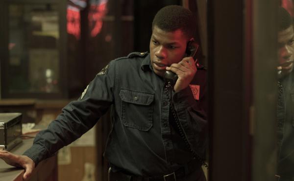 John Boyega plays security guard Melvin Dismukes in Detroit.