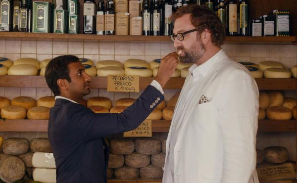 Aziz Ansari and Eric Wareheim play Dev and his friend Arnold on Netflix's Master Of None.