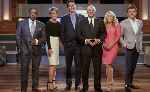 "Daymond John, Barbara Corcoran, Mark Cuban, Kevin O'Leary, Lori Greiner and Robert Herjavec are the ""Sharks"" on ABC's Shark Tank."