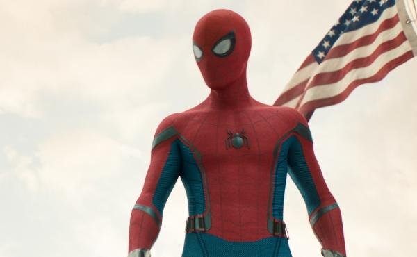 Spidey (Tom Holland) in Spider-Man: Homecoming.