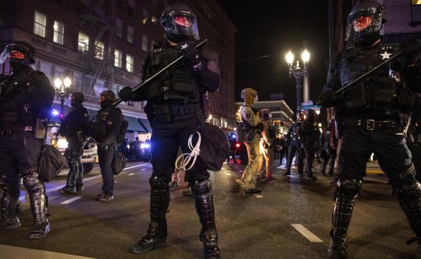 Portland has been a hotbed of anti-police and racial justice demonstrations since the summer. Wednesday's scuffle between police and anti-fascist demonstrators became just the latest such event in several months punctuated by demonstrations that turned vi