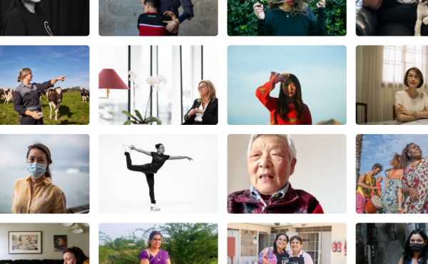 Grid of Women in Pandemic photos