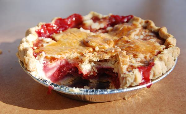 Sour cherry pie: one of the many beautiful marriages of sour with sweet.