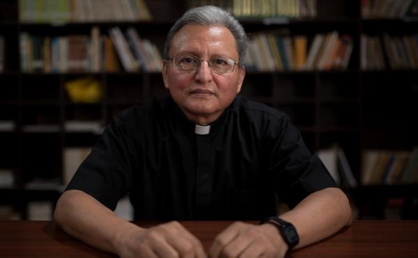 "José Alberto ""Chepe"" Idiáquez, a Catholic priest and rector at a private Jesuit university in Nicaragua, has become an outspoken critic of Nicaraguan President Daniel Ortega."