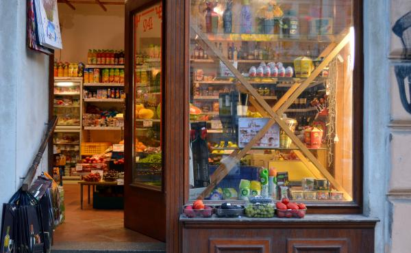 The outside of a grocery store in Prague, the capital of the Czech Republic. For years, governments and consumer advocates have been decrying what they call lower quality standards for packaged food available in Central and Eastern Europe, as compared wit