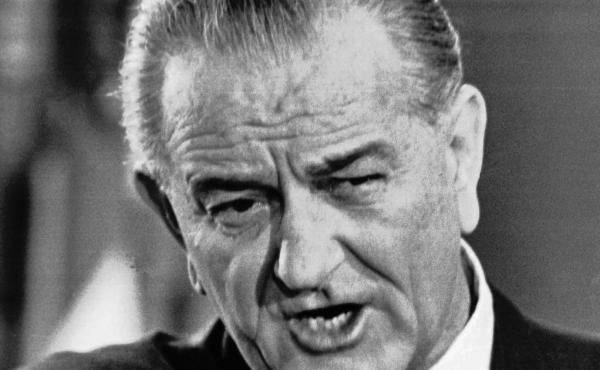 """This is a Nov. 17, 1967 file photo of former president Lyndon B. Johnson. That year a commission Johnson had organized to come up with recommendations for how to win his """"war on crime"""" issued their report. The legacy of some of those recommendations can b"""