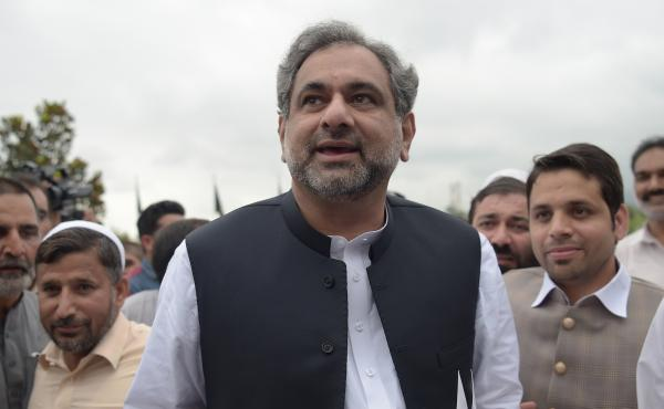 Pakistan's prime minister, Shahid Khaqan Abbasi (shown here Aug. 1), says that U.S. sanctions against Pakistan will only hurt its efforts to fight militants in the region.