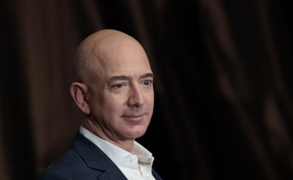 Jeff Bezos, chairman and founder of Amazon.com and owner of The Washington Post, addresses the Economic Club of New York in 2016. Bezos was briefly the richest person on earth, after Amazon stock values surged Thursday morning.