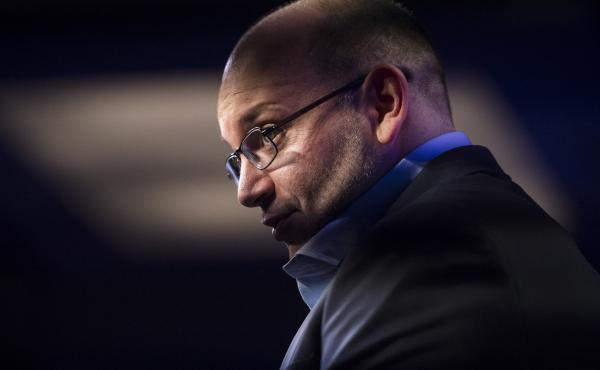 Washington Post correspondent Jason Rezaian speaks at an opening ceremony for the new headquarters of the Washington Post on Jan. 28, 2016.
