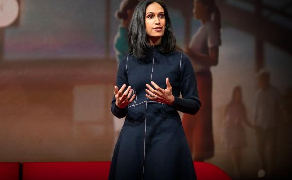 Priya Parker on the TED stage