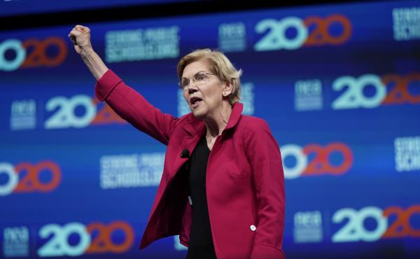 Massachusetts Sen. Elizabeth Warren is the only leading Democratic presidential candidate addressing the Netroots Nation conference on Saturday. The progressive activists there are excited by how many candidates are representing their views in the 2020 ca