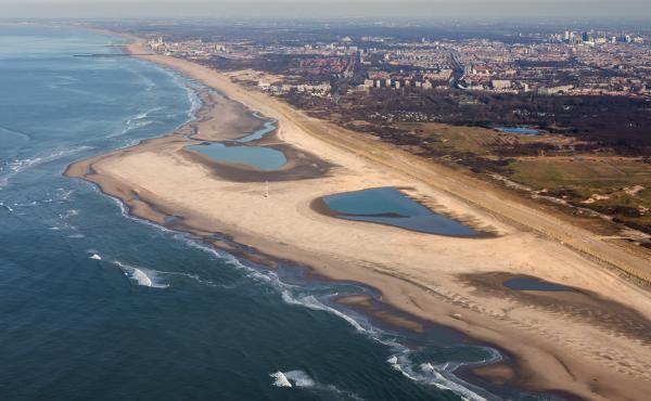 A huge sandbar-shaped peninsula along the southern coast of the Netherlands is one of the country's latest experiments in coastal management.