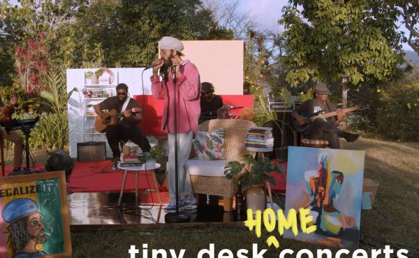 Protoje plays a Tiny Desk (home) concert.