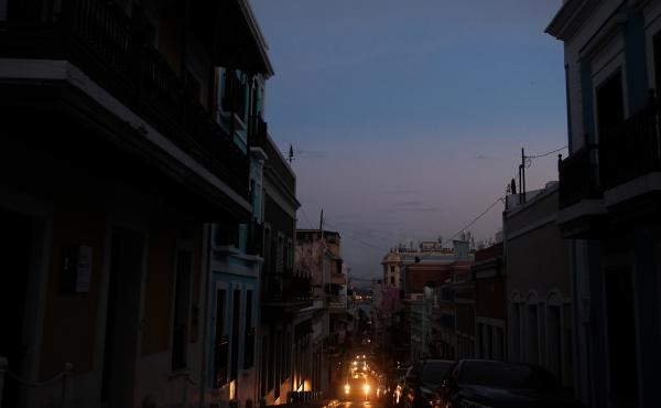 View of Old San Juan, Puerto Rico, on April 18, 2018, after a major failure knocked out the electricity leaving the entire island without power, again. The electricity was eventually restored, but 1.5 percent of customers have had no power in the eight mo