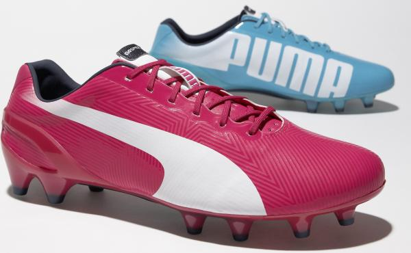 """Right is pink, left is blue"" is the new slogan for Puma's line of mismatched cleats. The Tricks are featured at this year's World Cup."