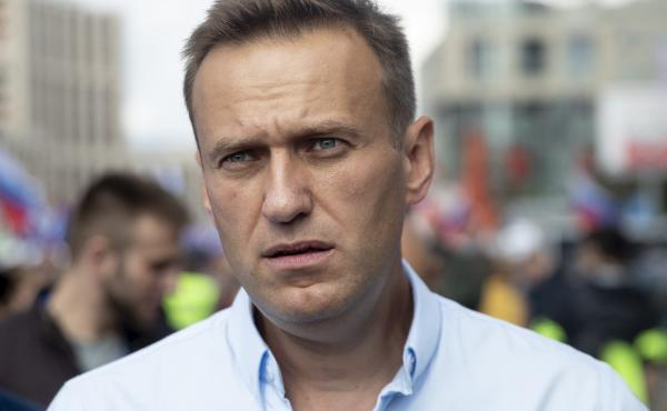 Russian opposition activist Alexei Navalny attends a protest in Moscow, Russia, on July 20.