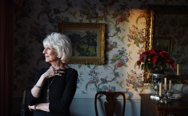Diane Rehm poses for a portrait at her home in January. After more than three decades and thousands of programs, she's stepping away from the broadcast microphone.
