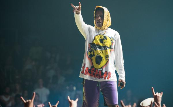 A$AP Rocky performs in Paris last month. He has been detained in Sweden since early July.