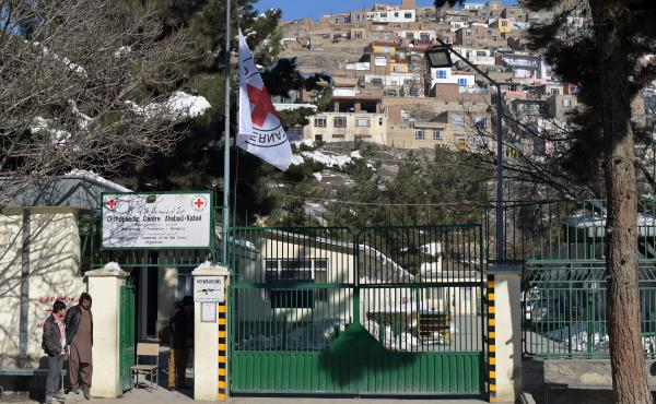 The International Committee of the Red Cross flew its flag at half-mast outside its orthopedic center in Kabul on February 9, after gunmen killed six Afghan employees delivering relief supplies in the snowbound north. Another shooting this week took the l
