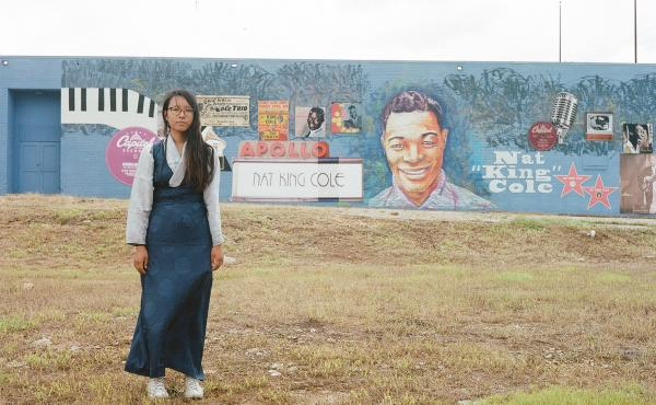 Nat King Cole mural in Montgomery, Ala.: We were on our way to the National Memorial for Peace and Justice when Quinn's cousin spotted this mural dedicated to Montgomery-born jazz artist Nat King Cole. It was starting to drizzle, but we pulled over anyway