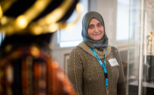 """The University of Pennsylvania Museum of Archaeology and Anthropology — known as The Penn Museum — has hired refugees and immigrants from the Middle East, Africa and Central America as part of their """"Global Guides"""" program. Moumena Saradar, who is ori"""