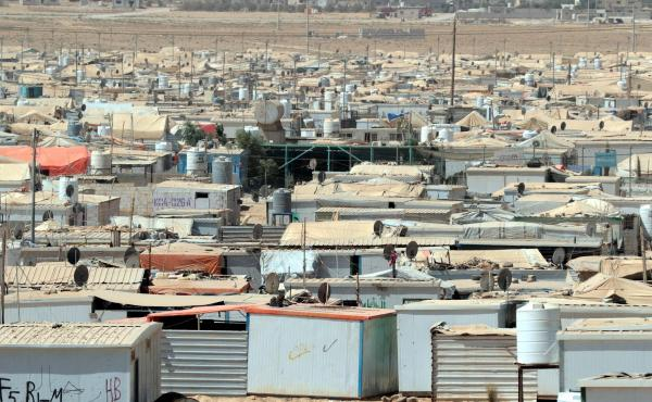 The UN-run Zaatari camp for Syrian refugees in Jordan.