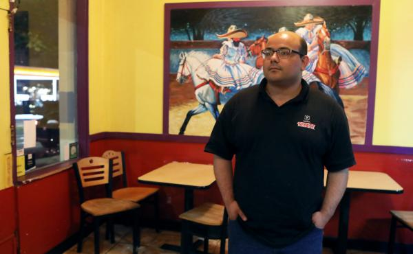 """""""Black Lives Matter really saved our business,"""" said Salvador Sahagun, who manages a Mexican restaurant near the edge of the zone. He voted for Donald Trump in 2016 and said he might do so again in November."""