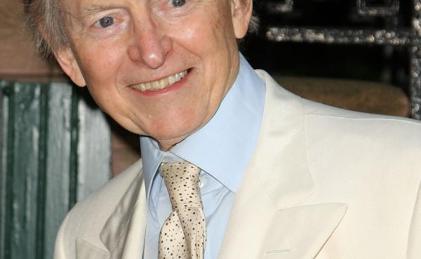 Tom Wolfe in 2008. He was known for his white suits.