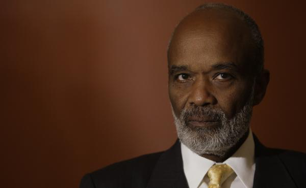 Former Haitian President Rene Preval, shown here in 2010 in Washington D.C.,  has died.