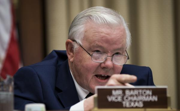 Rep. Joe Barton, R-Texas, says the transcript of a recorded phone call is evidence of a crime against him. In the call, The Washington Post says he threatened to report the woman he was involved with to the Capitol Police if lewd materials he sent her bec