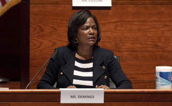 Rep. Val Demings, D-Fla., is said to be considering a run for the U.S. Senate in a race that would pit her against Sen. Marco Rubio, a Republican.