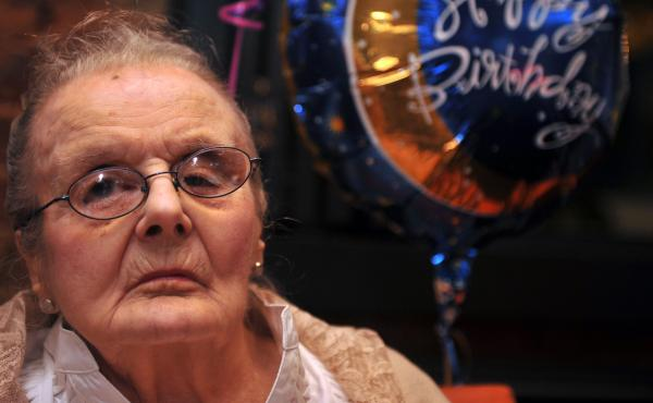 Veteran British war correspondent Clare Hollingworth, who broke the story that the World War II had begun, celebrates her 100 birthday during a party at the Foreign Correspondents' Club in Hong Kong in 2011. She celebrated her 105th birthday there this pa