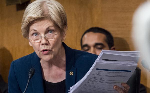 Sen. Elizabeth Warren, D-Mass., in a Senate committee hearing last year.