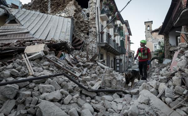 A 6.2 magnitude earthquake devastated central Italy, destroying numerous villages, including Accumoli. Rescue teams are searching for survivors and victims.