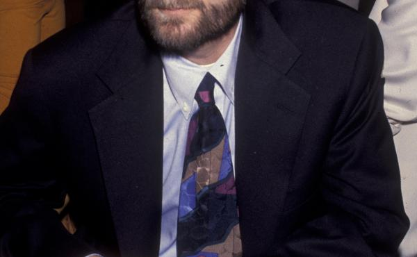 Randy Shilts attended a screening of And the Band Played On on Aug. 31, 1993, at the Academy Theater in Beverly Hills, Calif.