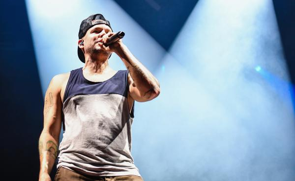 Residente performs during Austin City Limits Festival in October 2018. The Puerto Rican rapper's latest song is a response to the island's protests against Gov. Ricardo Rosselló.