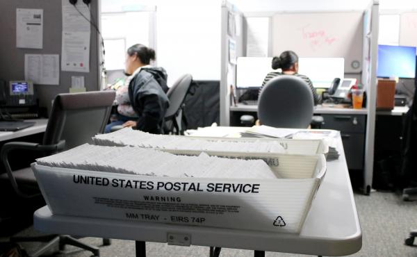 Colorado estimates that about 15% of the 12 million letters it sends to beneficiaries of public assistance programs each year are returned unopened, left to pile up in county offices like this one in Colorado Springs. That amounts to about 1.8 million pie
