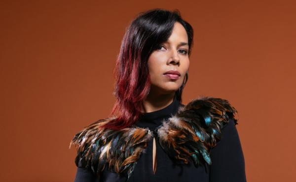 Rhiannon Giddens recorded her new album, They're Calling Me Home, with her collaborator Francesco Turrisi, in quarantine in Ireland during 2020.