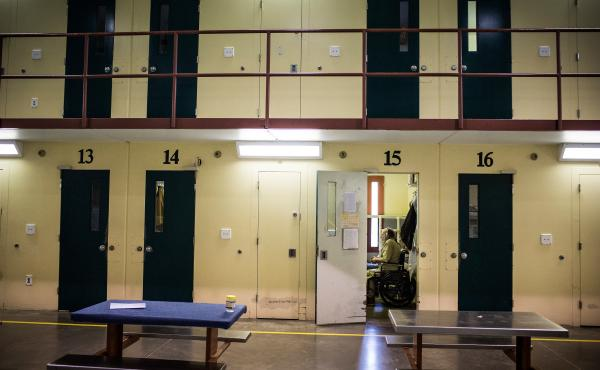 A view inside Rhode Island's John J. Moran Medium Security Prison, in Cranston. Rhode Island is the only state to screen every individual who comes into the correctional system for opioid use disorder, and to offer, in conjunction with with counseling, al